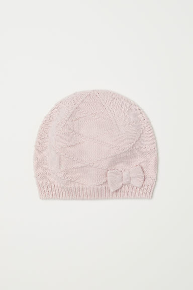 Hat with a bow - Powder pink - Kids | H&M CN
