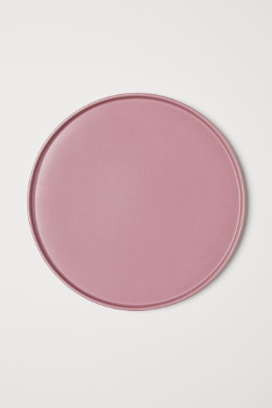 Stoneware plate - Dusky pink - Home All | H&M CN