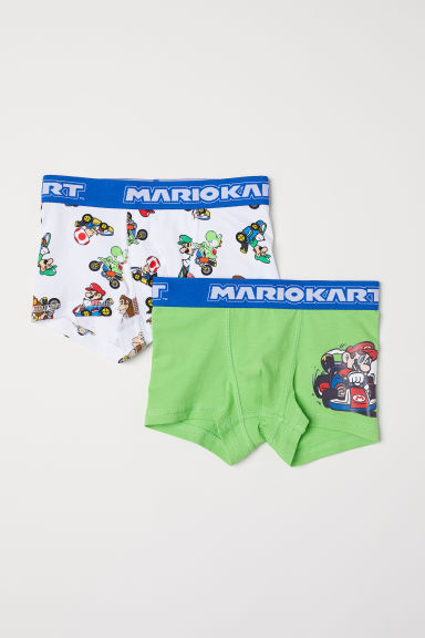 2-pack boxer shorts - White/Nintendo - Kids | H&M CN