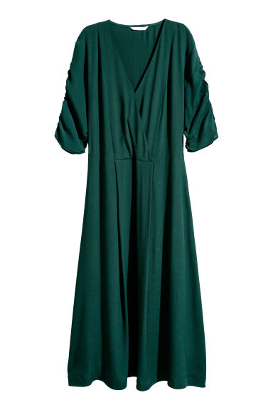 V-neck dress - Dark green - Ladies | H&M GB