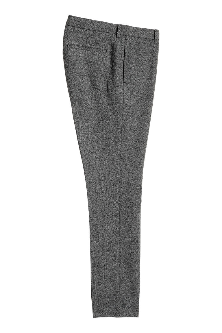 Pantaloni eleganti Slim fit - Nero/mélange - UOMO | H&M IT