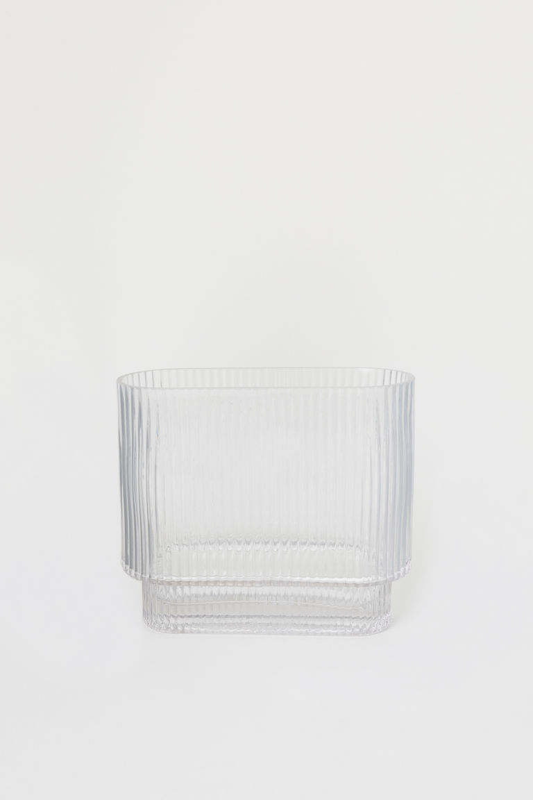 Oval glass vase - Clear glass - Home All | H&M IE
