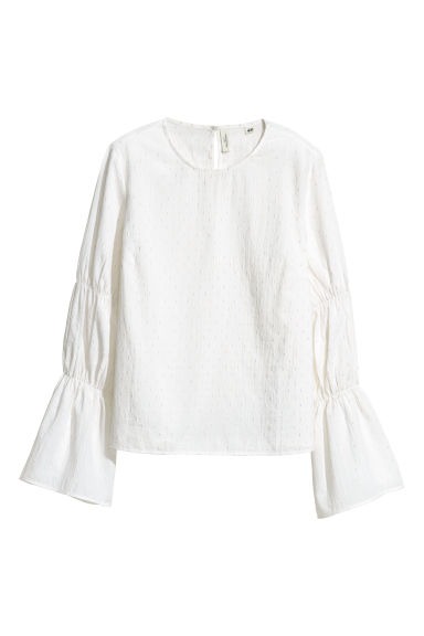 Cotton blouse - White -  | H&M GB