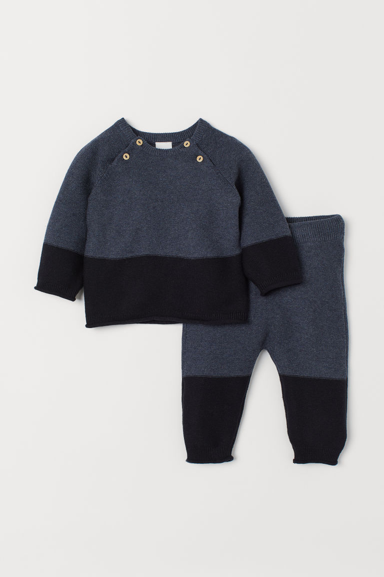 Jumper and trousers - Dark blue - Kids | H&M