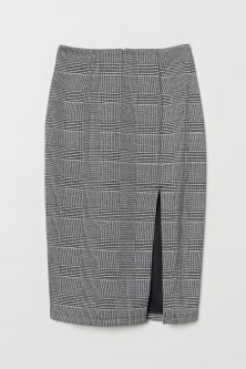 Pencil skirt with a slit