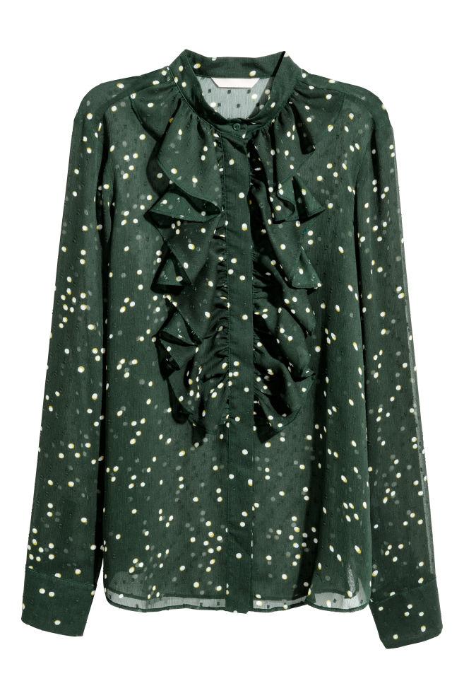 9c840faeefc Plumeti blouse - Dark green Spotted - Ladies