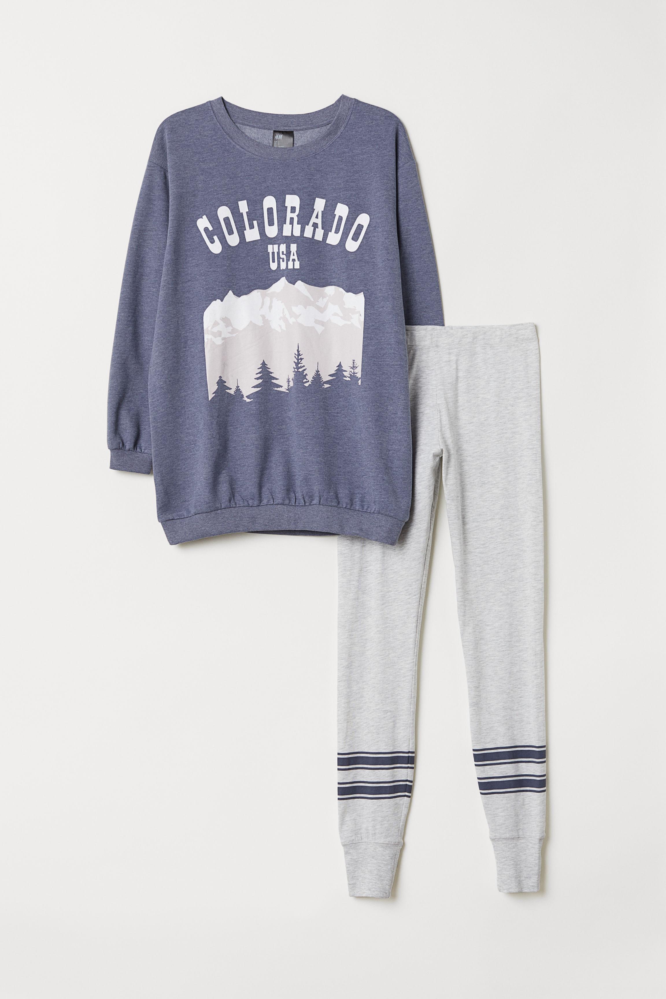 c034e8a85a Pajama Top and Leggings - Blue melange Colorado - Ladies