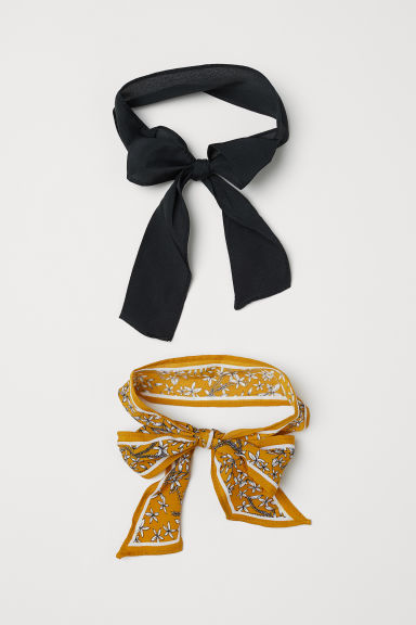 2-pack hairbands - Dark yellow/Floral - Ladies | H&M CN