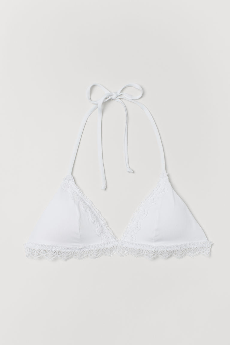 Top de bikini de triángulo - Blanco - Ladies | H&M MX
