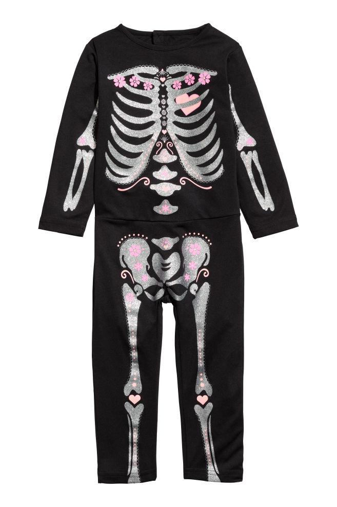 Maskeraddräkt - Svart Skelett - BARN  40d5cc09c867e