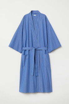 Striped dressing gown