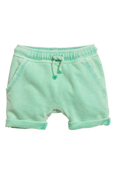 Sweatshirt shorts - Light green - Kids | H&M CN