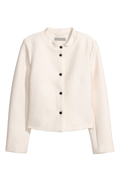 Textured jacket - Natural white -  | H&M CN