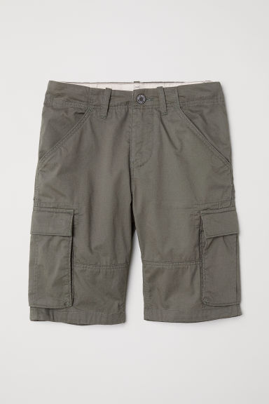 Knee-length cargo shorts - Khaki green -  | H&M