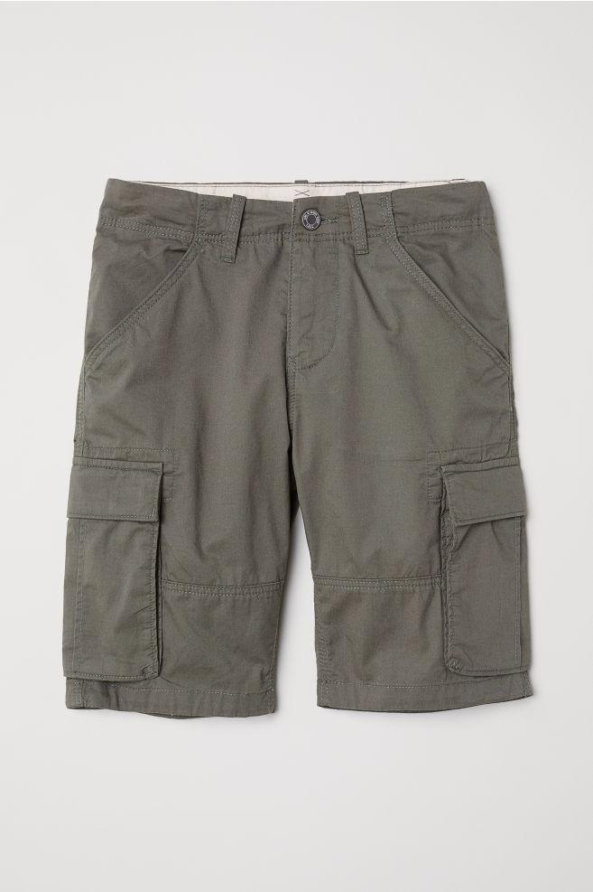 e8ad66648b Knee-length Cargo Shorts - Khaki green - Kids | H&M ...