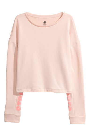 Top sportivo - Rosa cipria/Strong Vibes -  | H&M IT