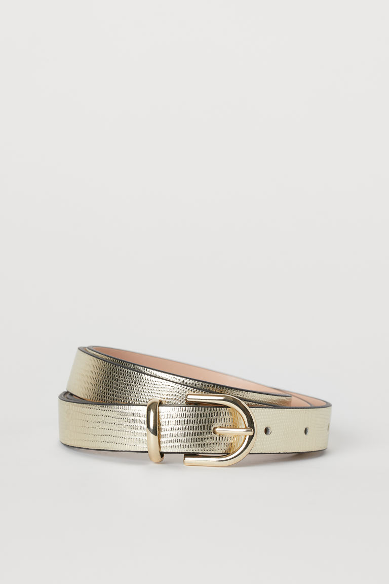 Narrow Belt - Gold-colored - Ladies | H&M CA