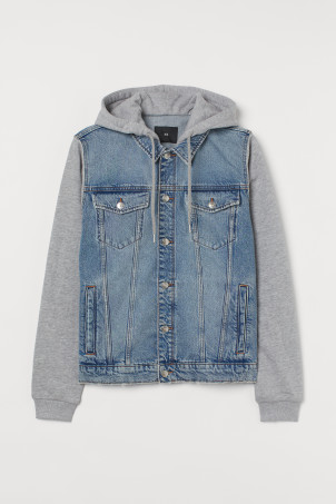 Hooded Denim JacketModel