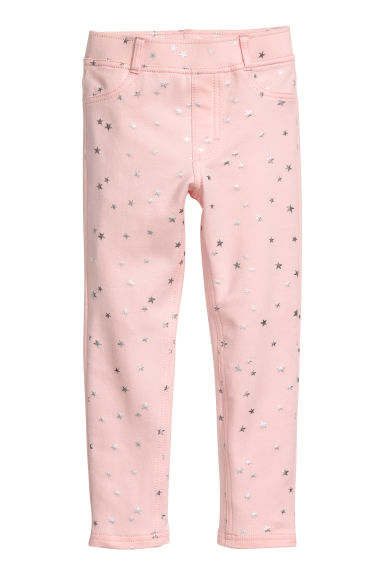 Thick Jersey Leggings - Pink/stars - Kids | H&M CA