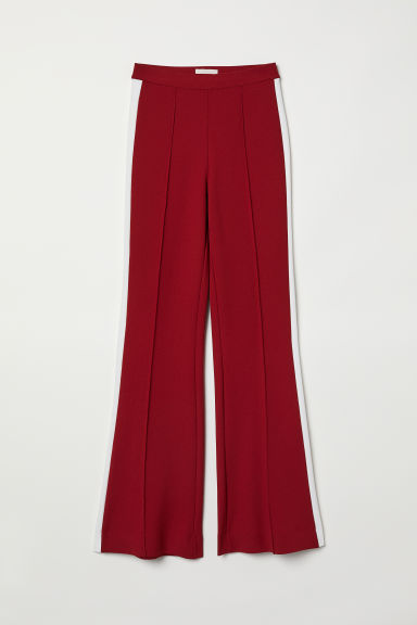 Wide trousers - Dark red - Ladies | H&M