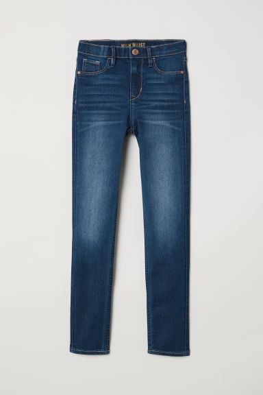 Skinny Fit High Jeans - Dark denim blue - Kids | H&M