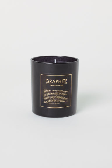 Candela profumata in vasetto - Nero/Firewood - HOME | H&M IT