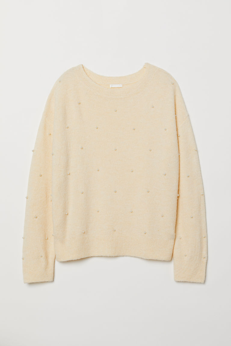 Fine-knit jumper - Cream - Ladies | H&M