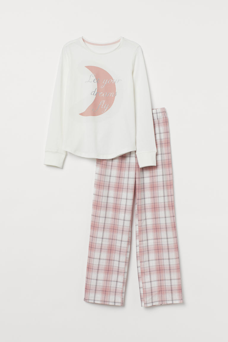 Pyjamas - Light pink/Moon - Kids | H&M