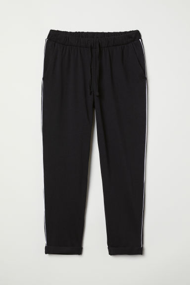 Joggers - Schwarz/Galonstreifen - Ladies | H&M AT