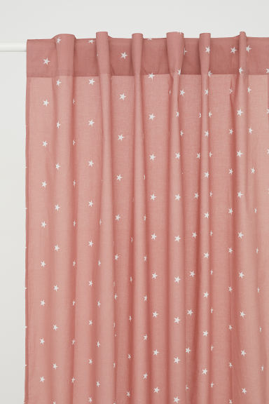 Patterned Curtain Panel - Pink/stars - Home All | H&M CA