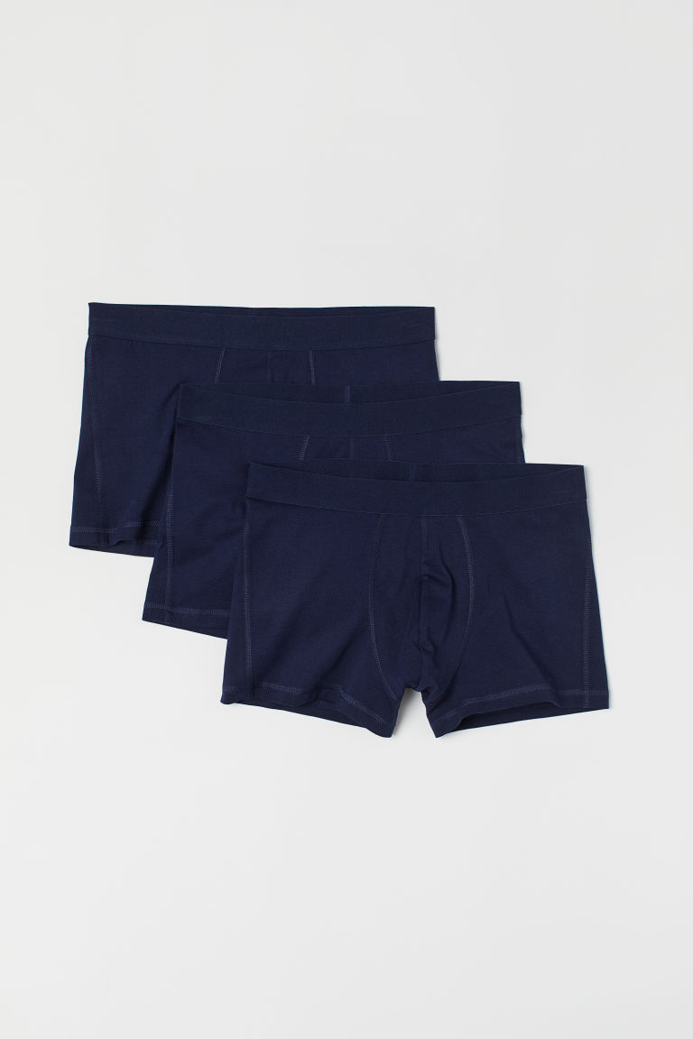 3-pack short trunks - Dark blue -  | H&M