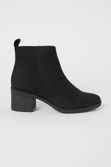 Ankle boots with a zip - Black - Ladies | H&M