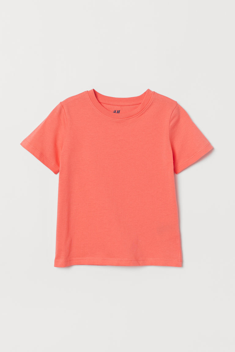Cotton T-shirt - Coral - Kids | H&M CN