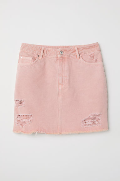 Denim skirt - Light pink -  | H&M CN