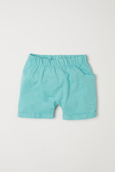 Slub jersey shorts - Light green - Kids | H&M CN