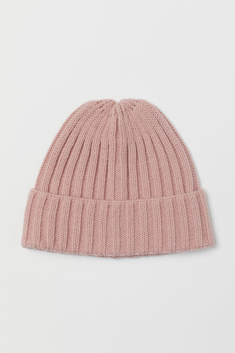 Knitted hat - Powder pink -  | H&M CN