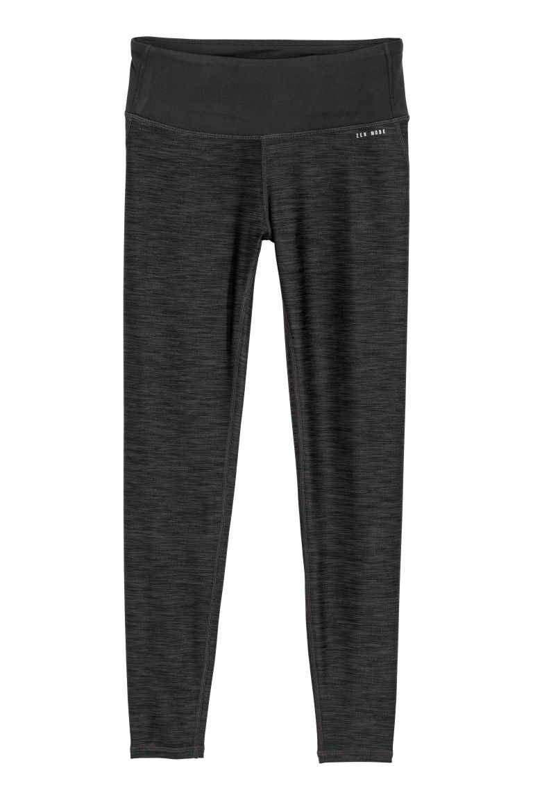 Yogalegging - Shaping taille - Donkergrijs gemêleerd - DAMES | H&M BE