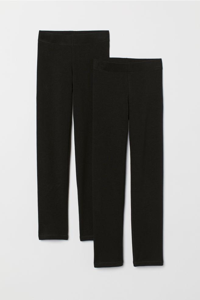5cb86b5138081 2-pack Thick Jersey Leggings - Black - Kids   H&M ...
