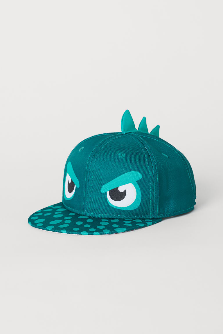 Cap with a motif - Green/Monster - Kids | H&M GB