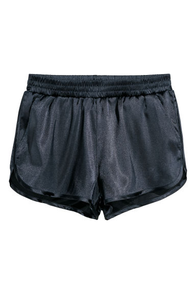 Satin shorts - Dark blue - Ladies | H&M