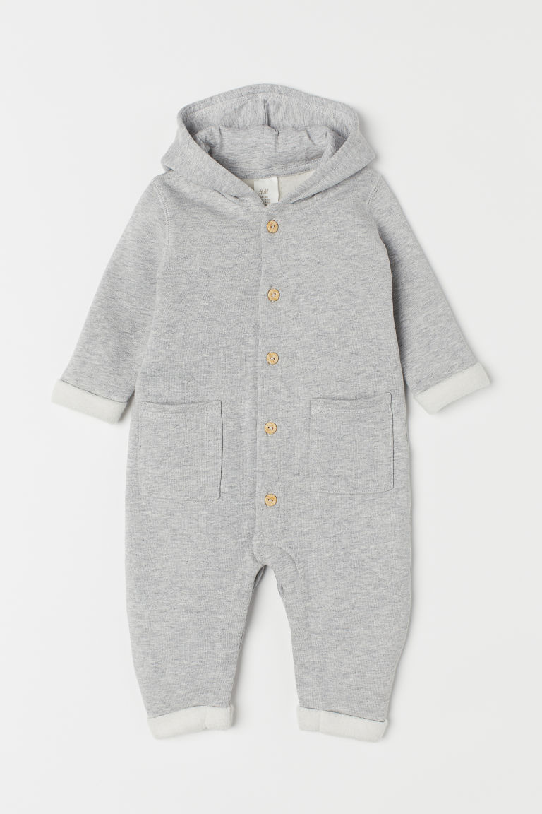 Sweatshirt all-in-one suit - Grey marl - Kids | H&M