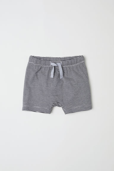 Jersey shorts - Grey/Striped -  | H&M