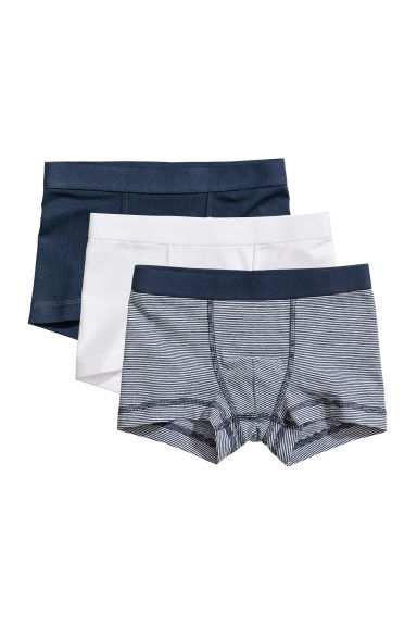 3-pack boxer shorts - Dark blue/Narrow striped -  | H&M CN