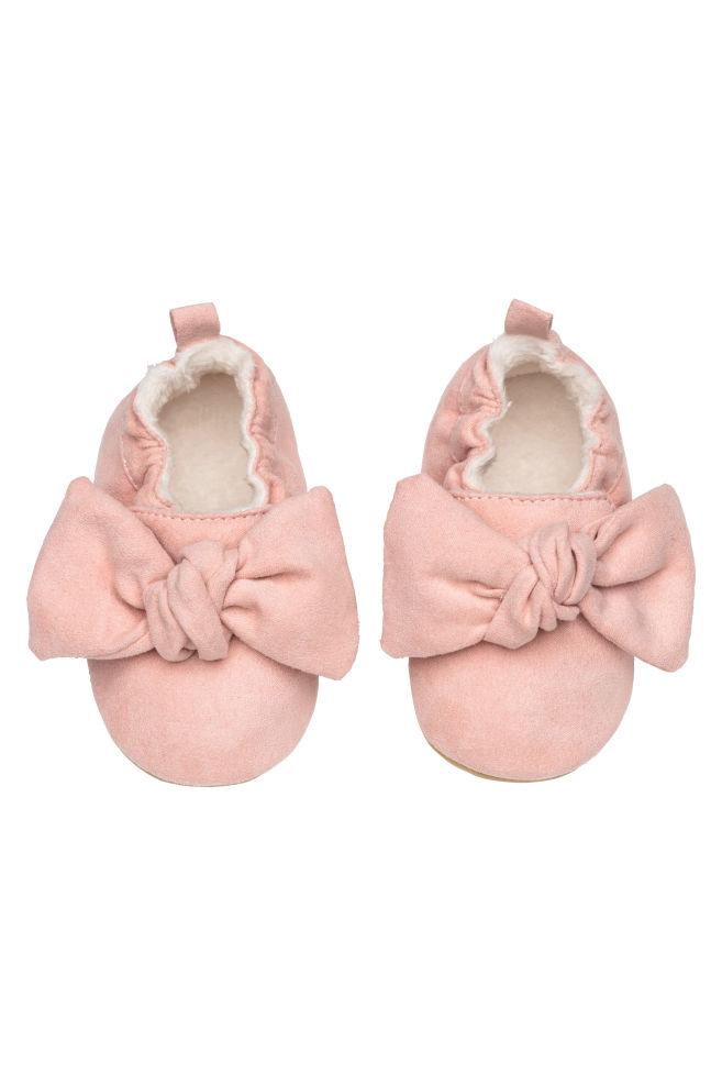 180d75d4a58dc Mäkké papuče - púdrová ružová/mašľa - DETI | H&M ...