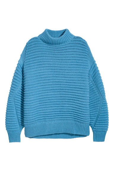 Knitted wool-blend jumper - Light blue - Ladies | H&M
