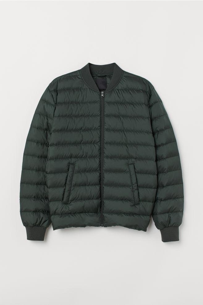 d6734a9463 Lightweight down jacket - Dark green - Men | H&M ...
