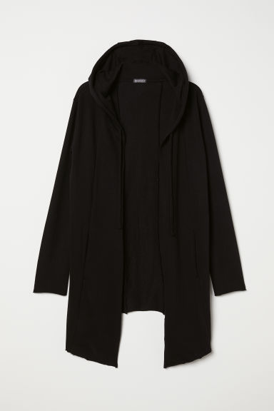 Hooded sweatshirt cardigan - Black - Men | H&M CN