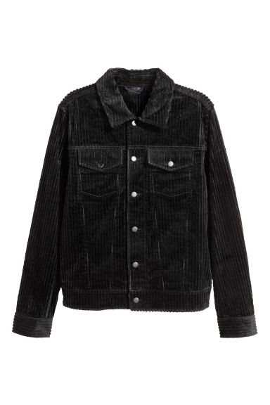 Corduroy jacket - Black - Men | H&M GB