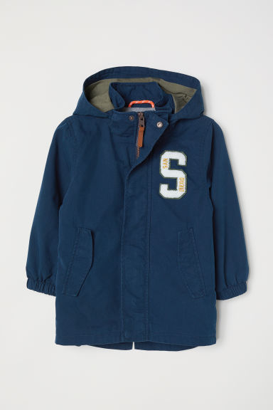 Parka with a hood - Dark blue - Kids | H&M CN