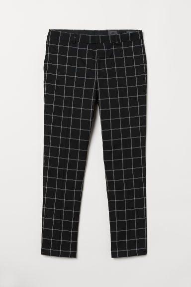 Checked trousers Skinny Fit - Black/White checked - Men | H&M CN